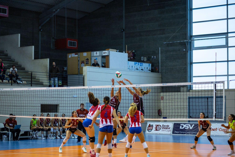 Voleibol femení. Partit de lliga. DSV CV Sant Cugat- Madrid Chamberí. Foto: Adrián Gómez.