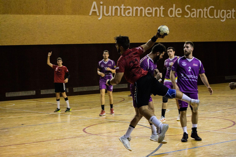 Handbol. Partit de lliga. CH Sant Cugat-Sant Martí-Adrianenc. Foto: Adrián Gómez
