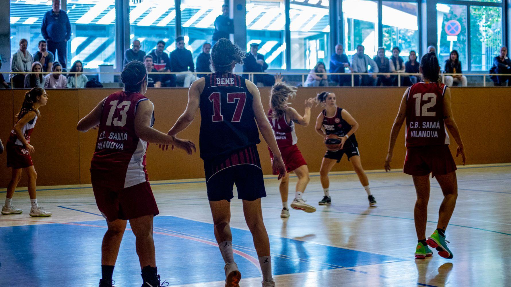 Bàsquet femení. Partit de lliga. UE Sant Cugat-Bàsquet Samà Vilanova.Foto: Adrián Gómez