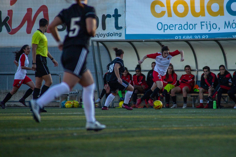 ZEM Jaume Tubau. Futbol femení. Partit de lliga. Sant Cugat FC-Món Femení Terrassa. Foto: Adrián Gómez.
