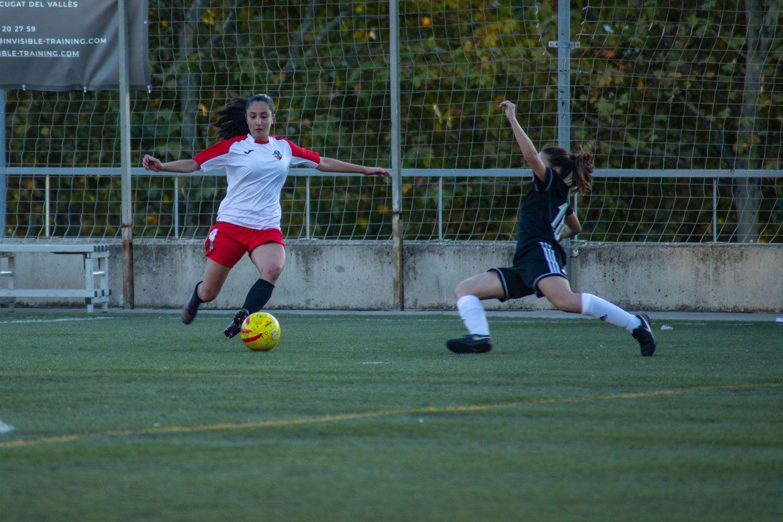 ZEM Jaume Tubau. Futbol femení. Partit de lliga. Sant Cugat FC-Món Femení Terrassa. Foto:Adrián Gómez.