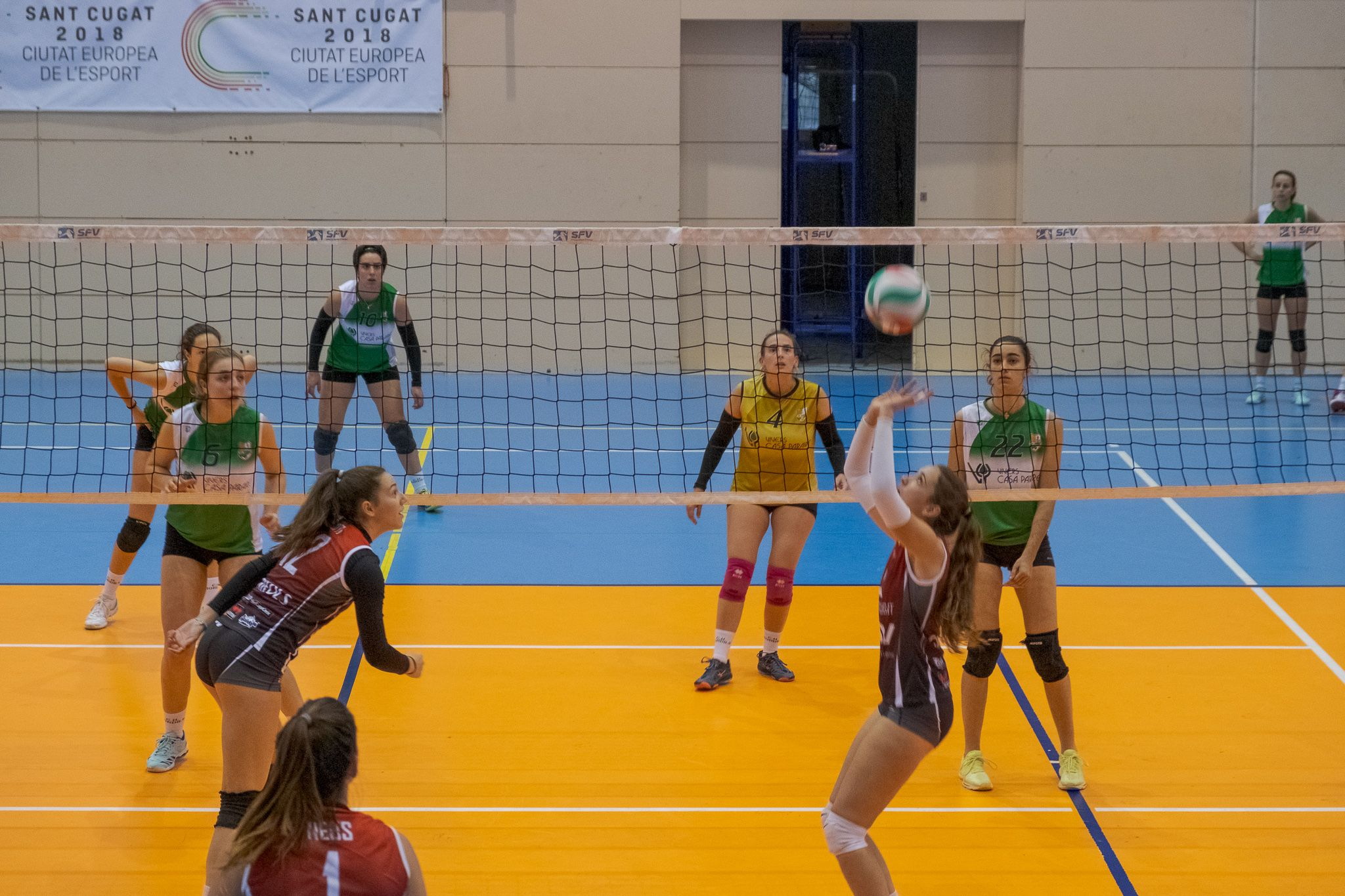 Voleibol femení. Partit de lliga. DSV CV Sant Cugat B-CH Bordils. FOTO: Ale Gómez