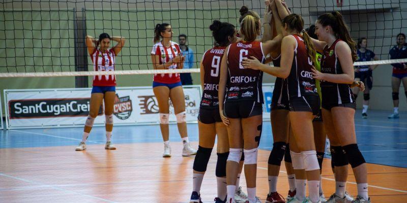 El DSV Club Voleibol Sant Cugat aconsegueix la primera victòria a la Lliga Iberdrola