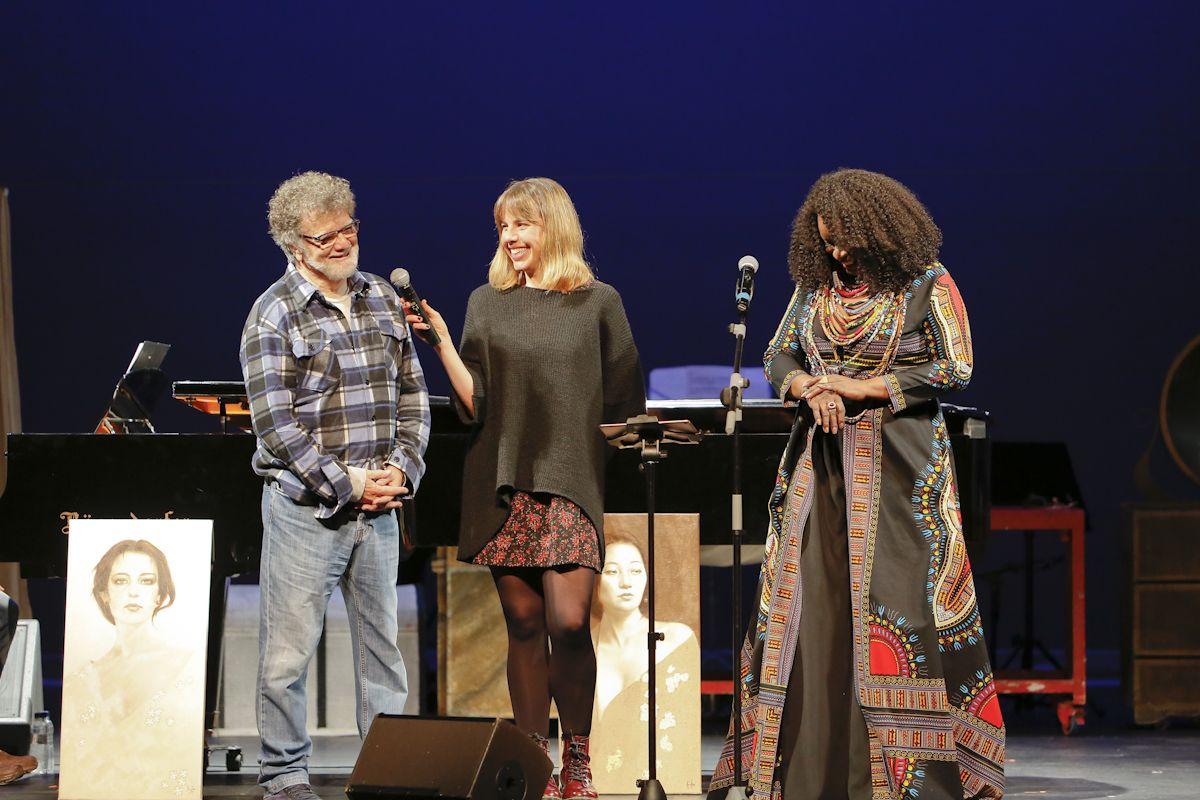 '2 artistes, 1 projecte. Tots contra la pòlio', amb Lluis Ribas i Monica Green al Teatre-Auditori. FOTO: Yves Dimant