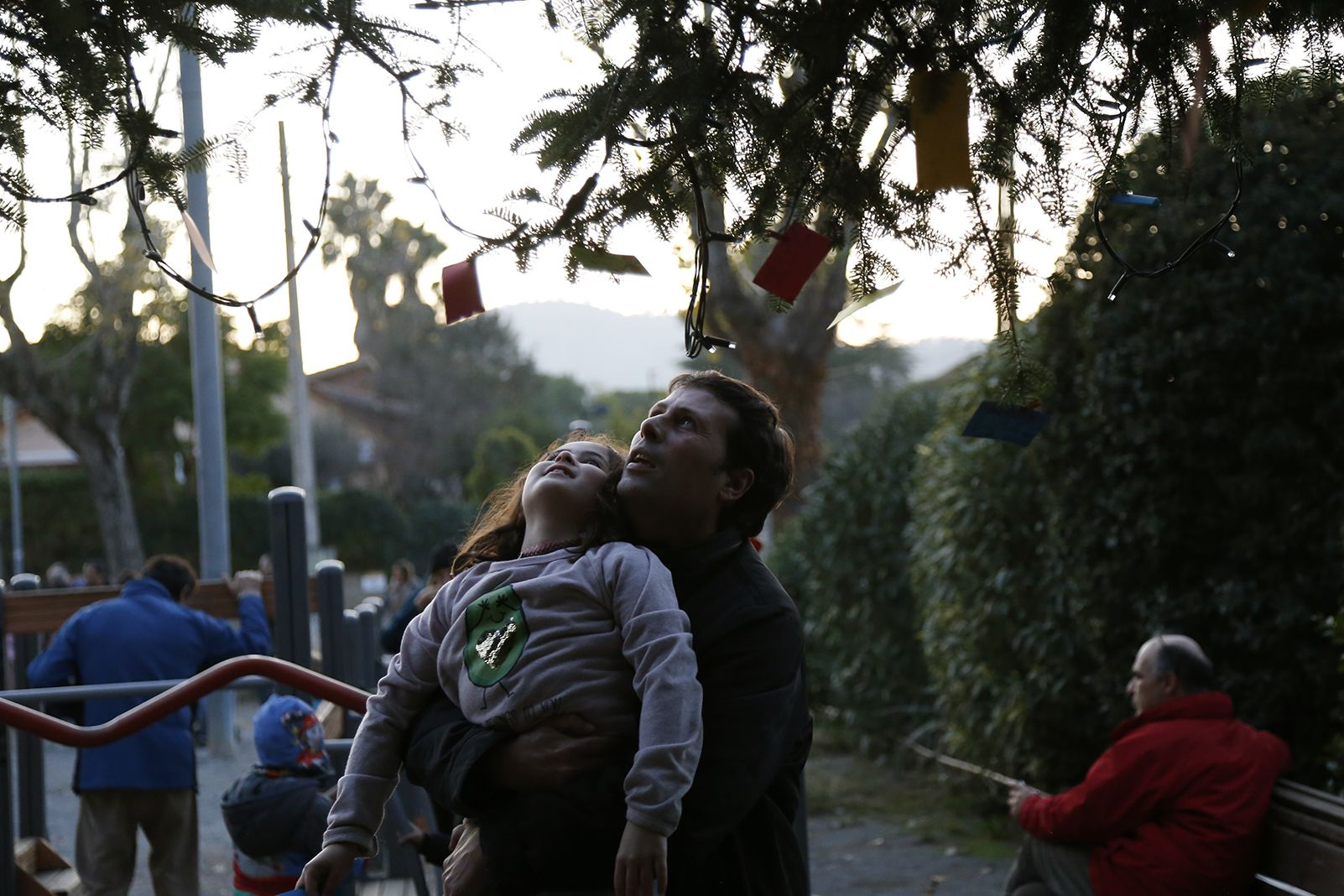 Desitjos a l'encesa de llums de l'arbre de nadal a Valldoreix. FOTO: Anna Bassa