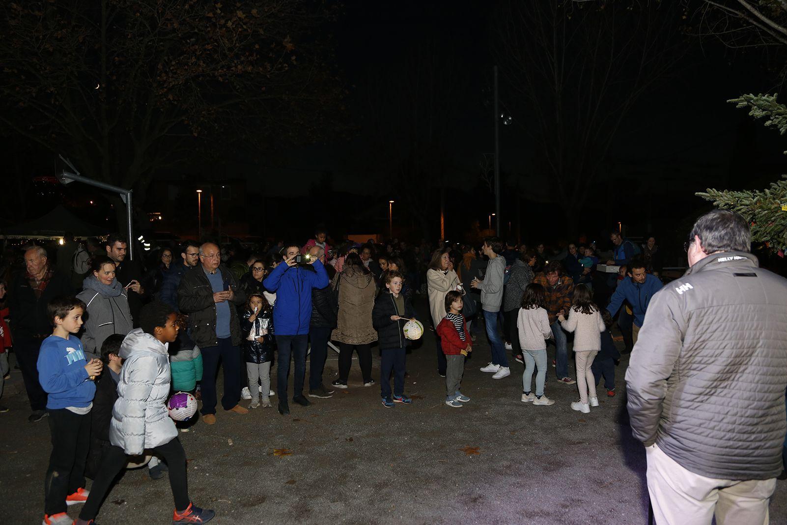 Encesa de llums de nadal a Valldoreix. FOTO: Anna Bassa