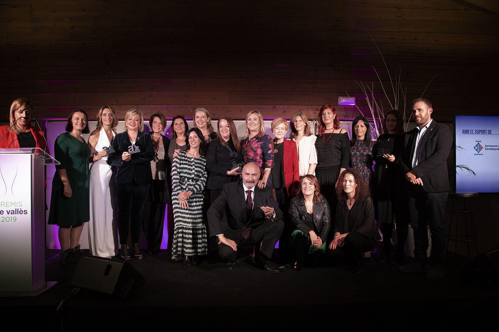 Premiats al sopar pels II liuraments de premis de l'ADE Vallès. FOTO: Anna Bassa