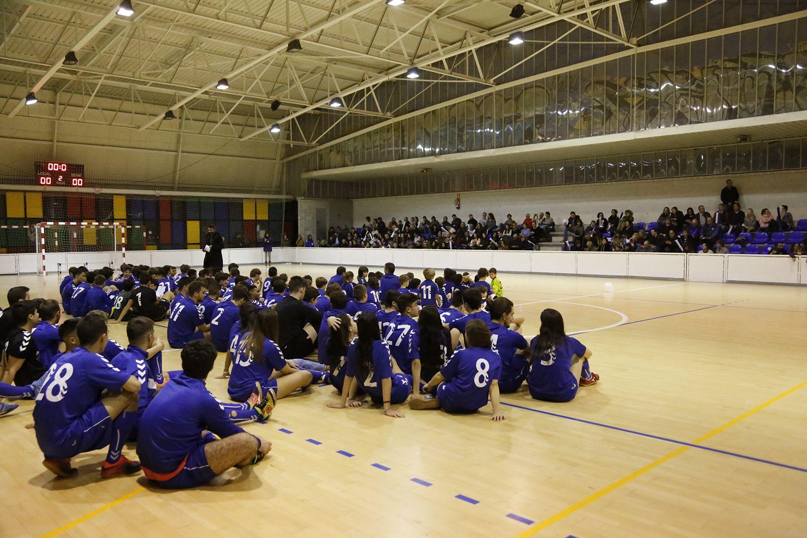 Presentació d'equips de l'Olimpyc la Floresta de futbol sala. FOTO: Anna Bassa