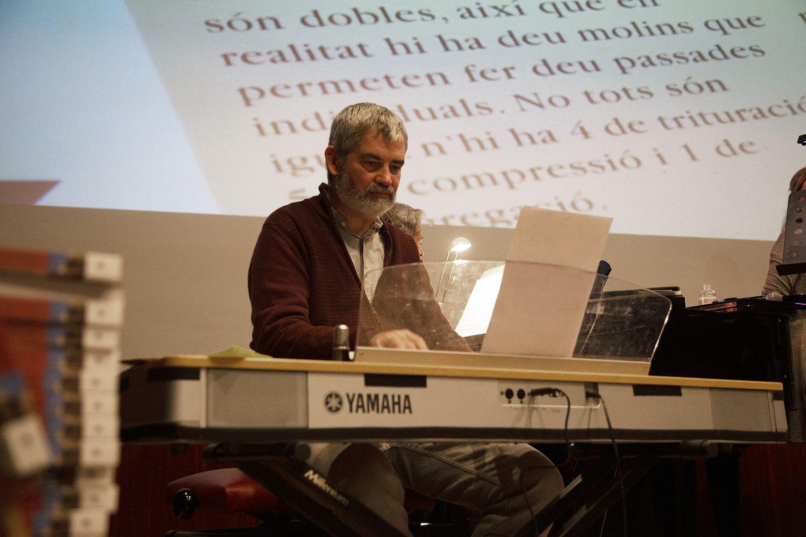 """Daniel Romaní a la presentació del llibre """"Catalunya Industrial"""". FOTO: Anna Bassa"""