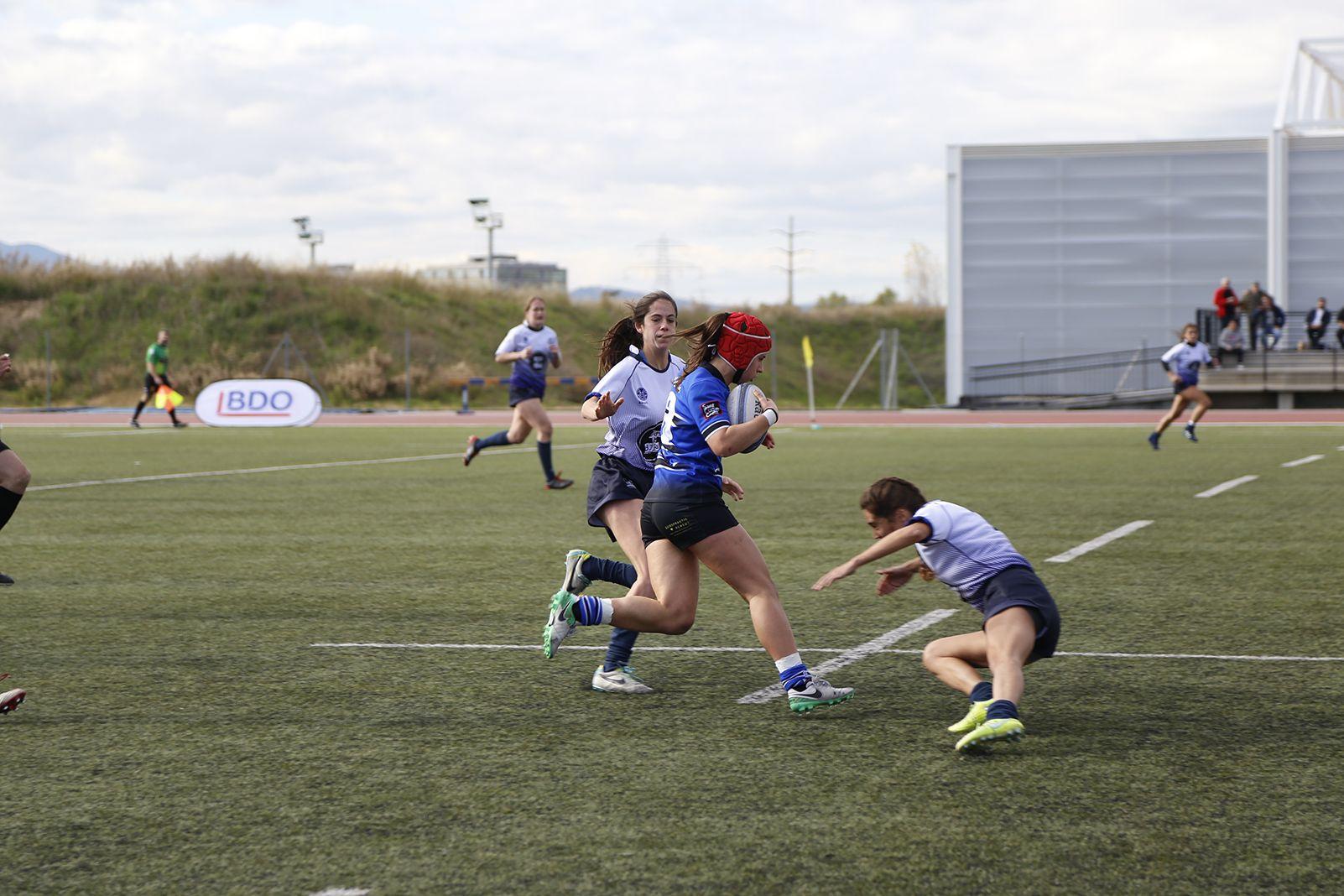 Semifinals divisió d'Honor Catalana rugbi femení CR Sant Cugat- Gòtic RC. FOTO: Anna Bassa