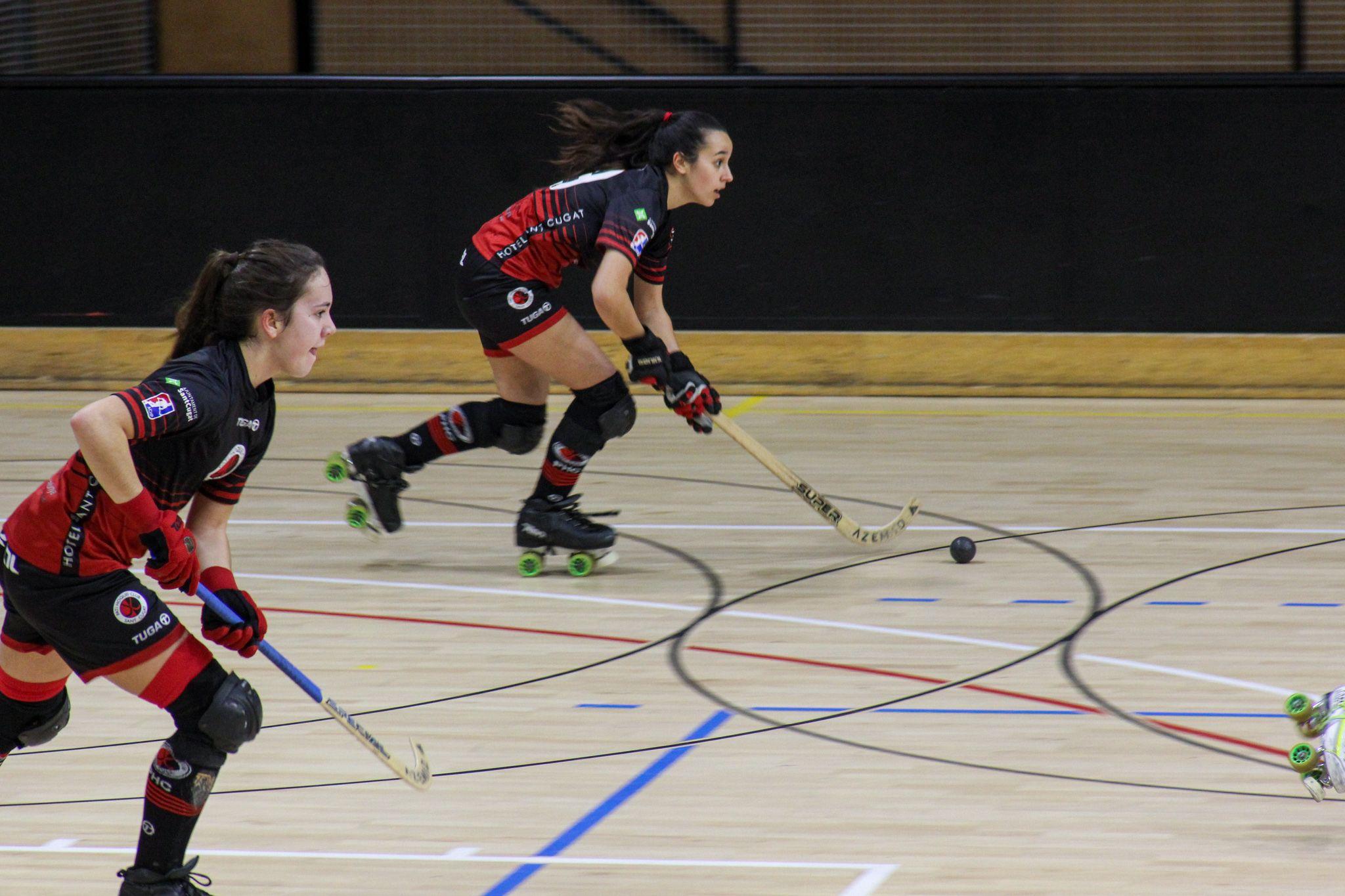 Lliga hoquei sobre patins femení. PHC Sant Cugat CP Vilanova. FOTO: Ale Gómez
