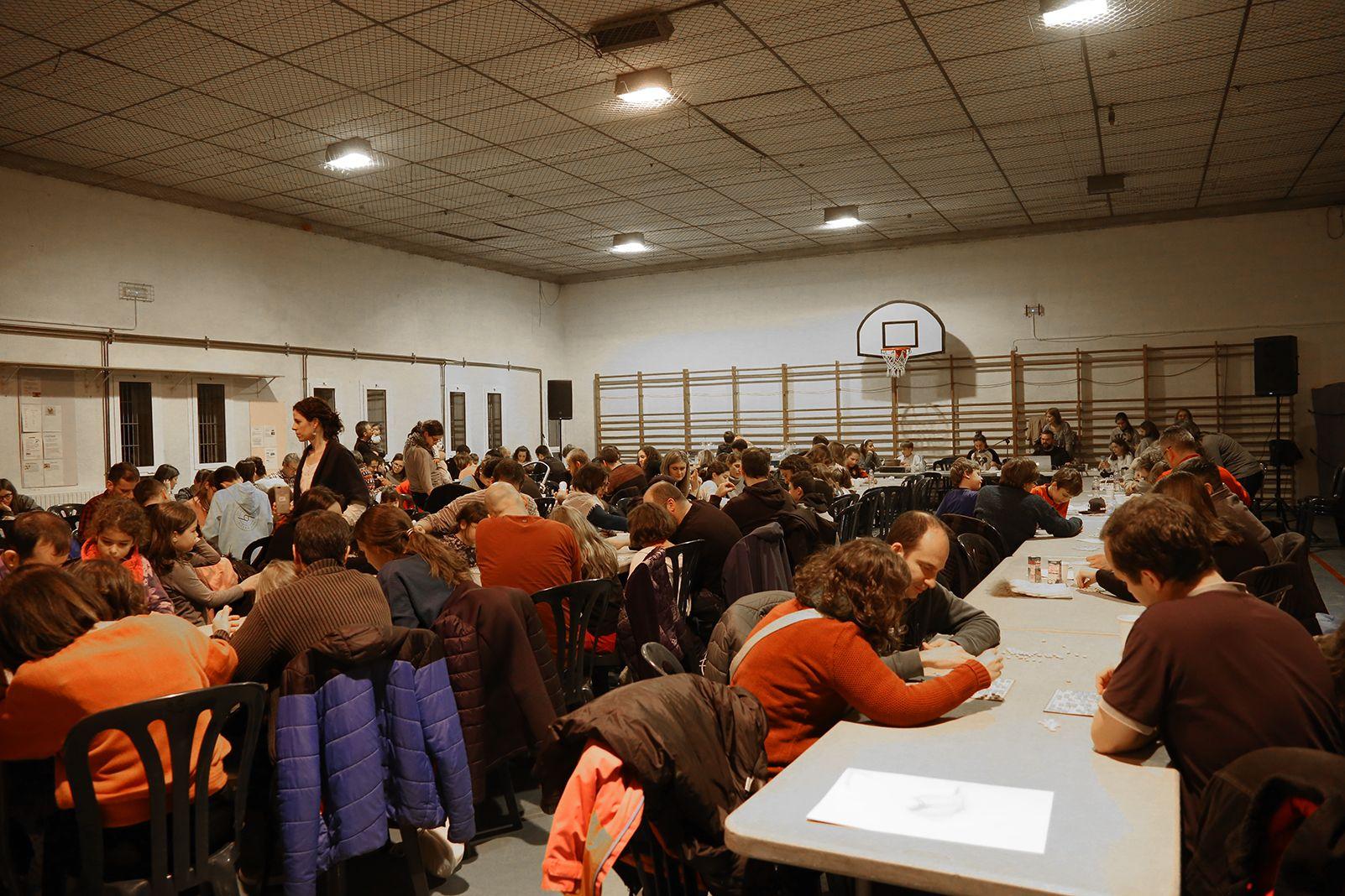Quinto de nadal a l'escola Pins del Vallès. FOTO: Anna Bassa