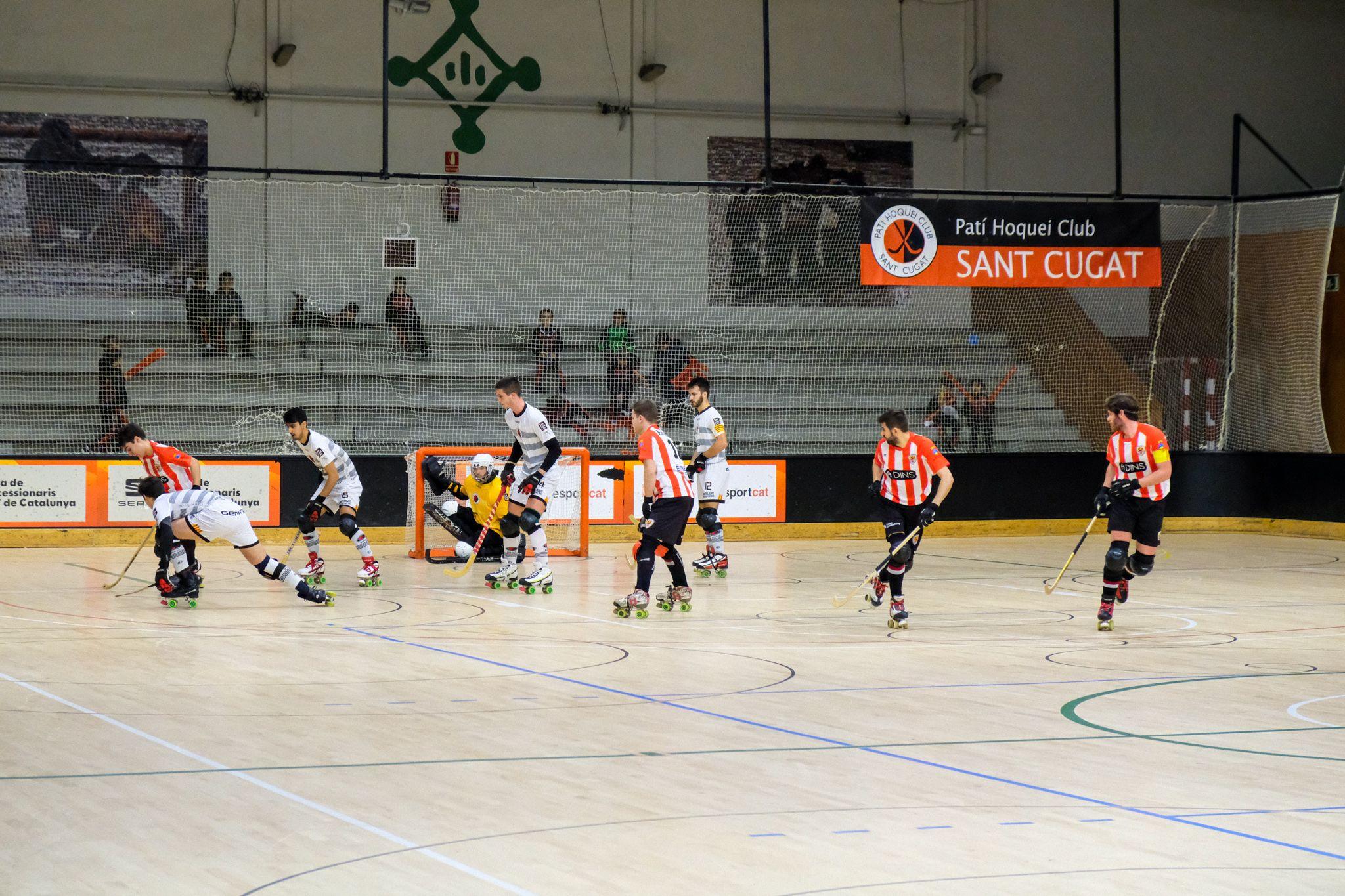 Lliga hoquei sobre patins masculí. PHC Sant Cugat CHP Sant Feliu. FOTO: Ale Gómez