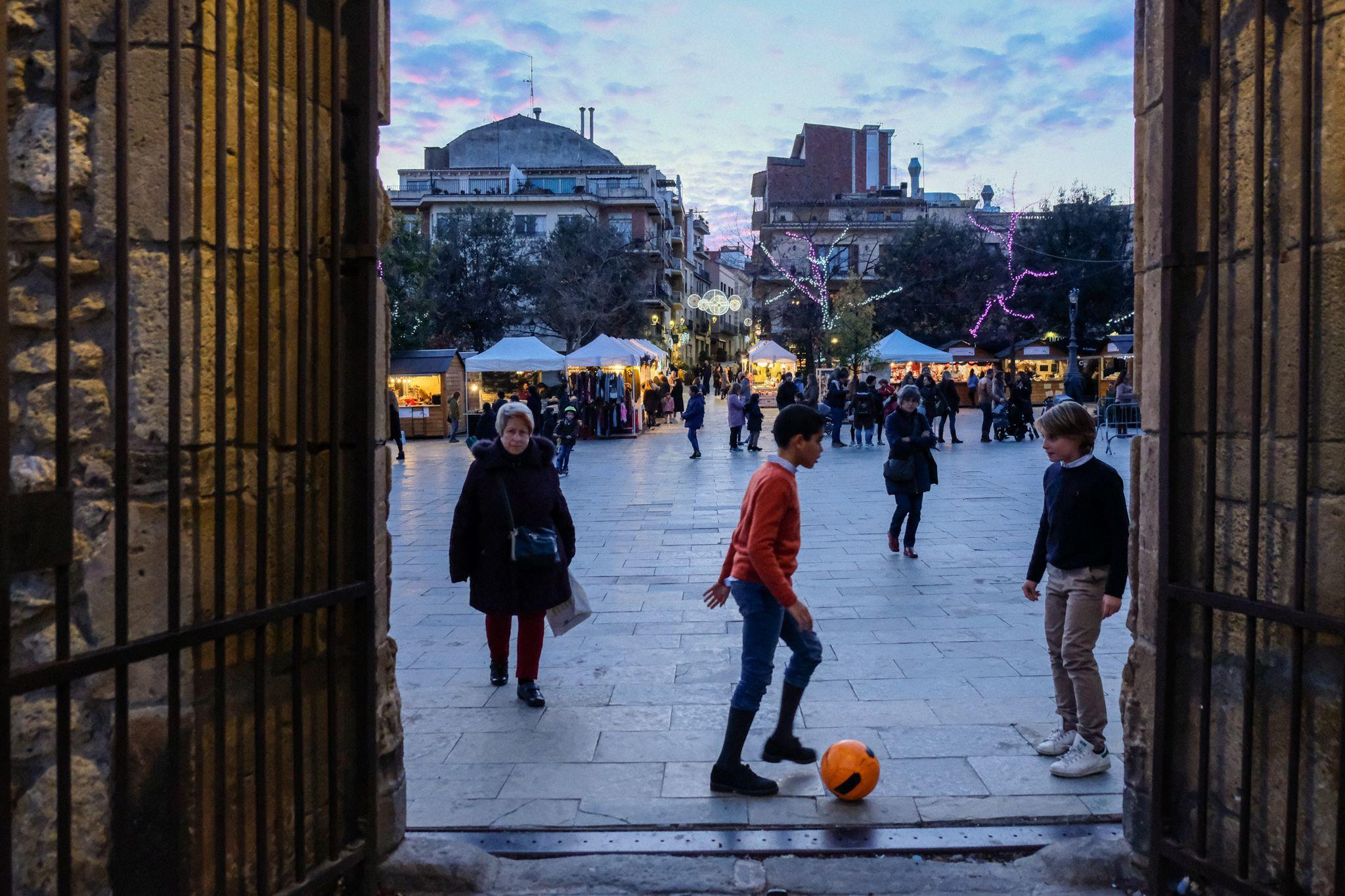 Vespre al centre de Sant Cugat el 14 de Desembre. FOTO: Ale Gómez