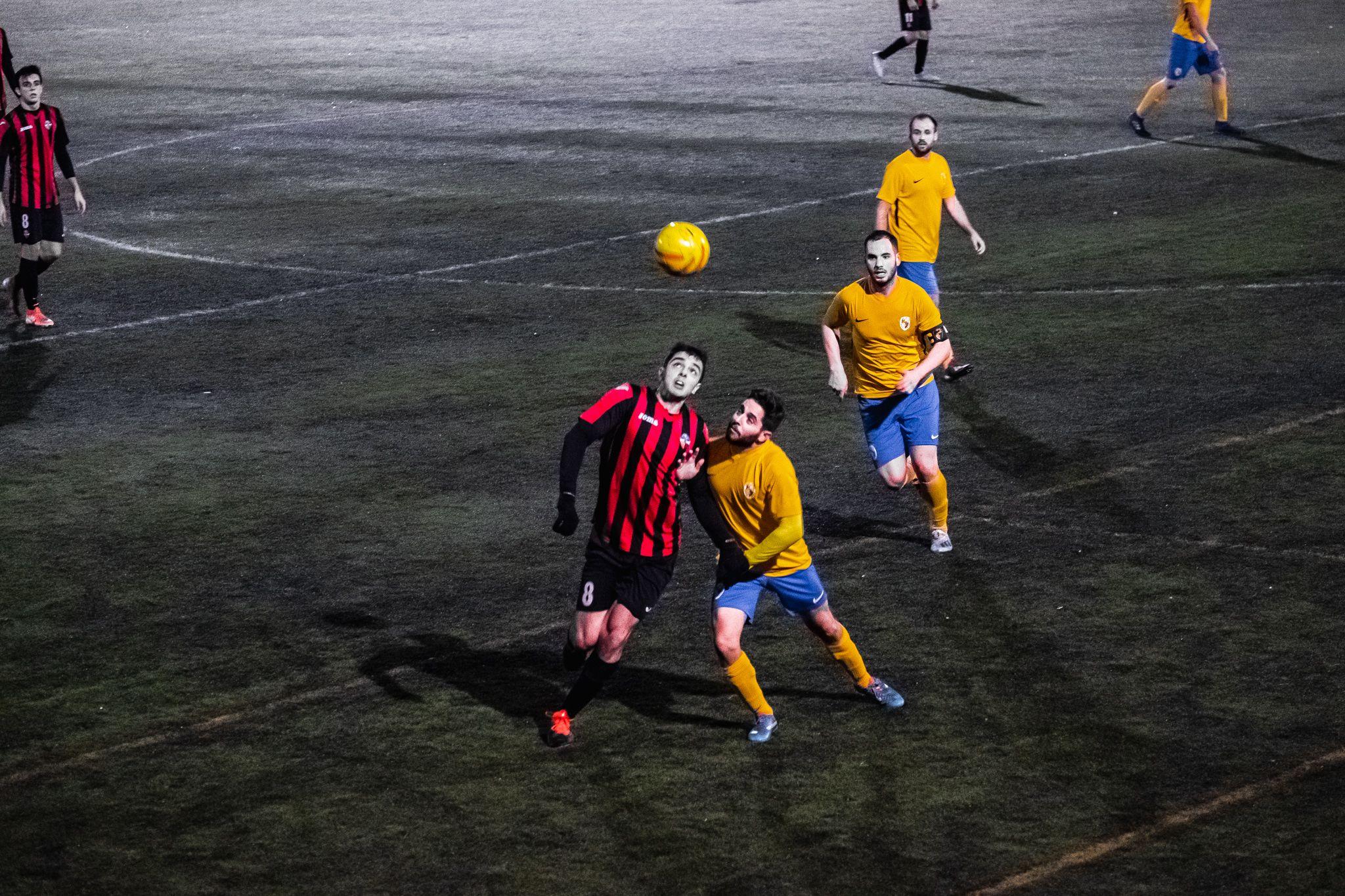 Partit de lliga de fútbol masculí: Sant Cugat FC-CD Fontsanta Fatjó. FOTO: Ale Gómez