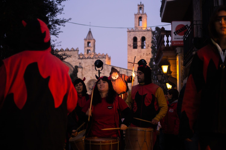 Els foguerons dels tres tombs. Foto: Adrián Gómez