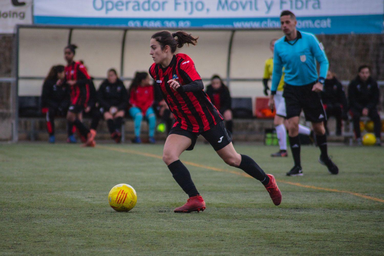 Laura Sesé, autora d'un dels gols del Sant Cugat FC. Foto: Adrián Gómez