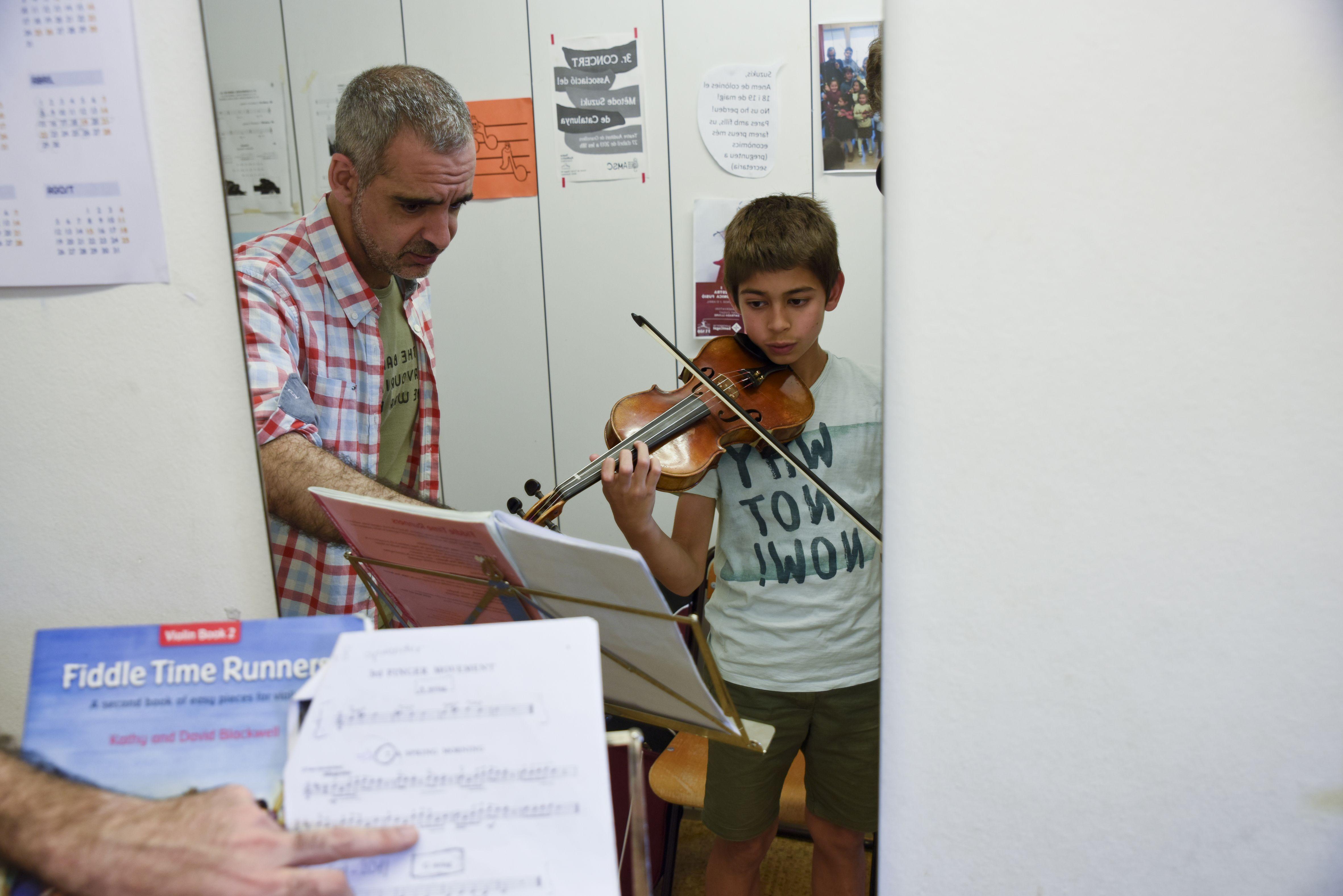 Classes de violí FOTO: arxiu