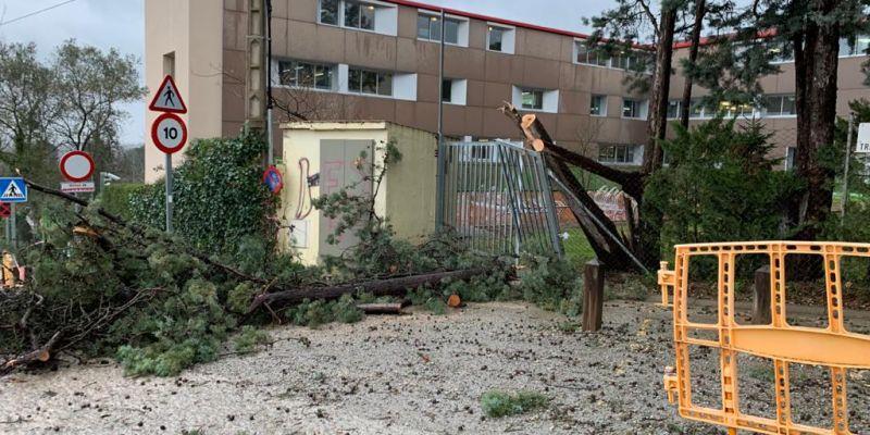El temporal Glòria deixa gairebé 130 incidències a Sant Cugat