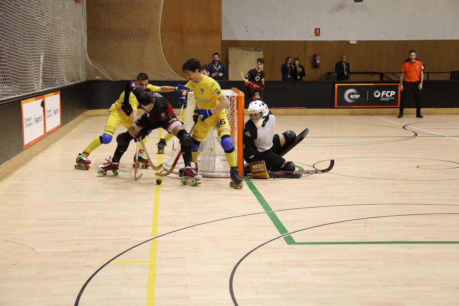Partit de lliga hoquei  sobre patins masculí PHC Sant Cugat- HC Sannt Just. FOTO: Anna Bassa