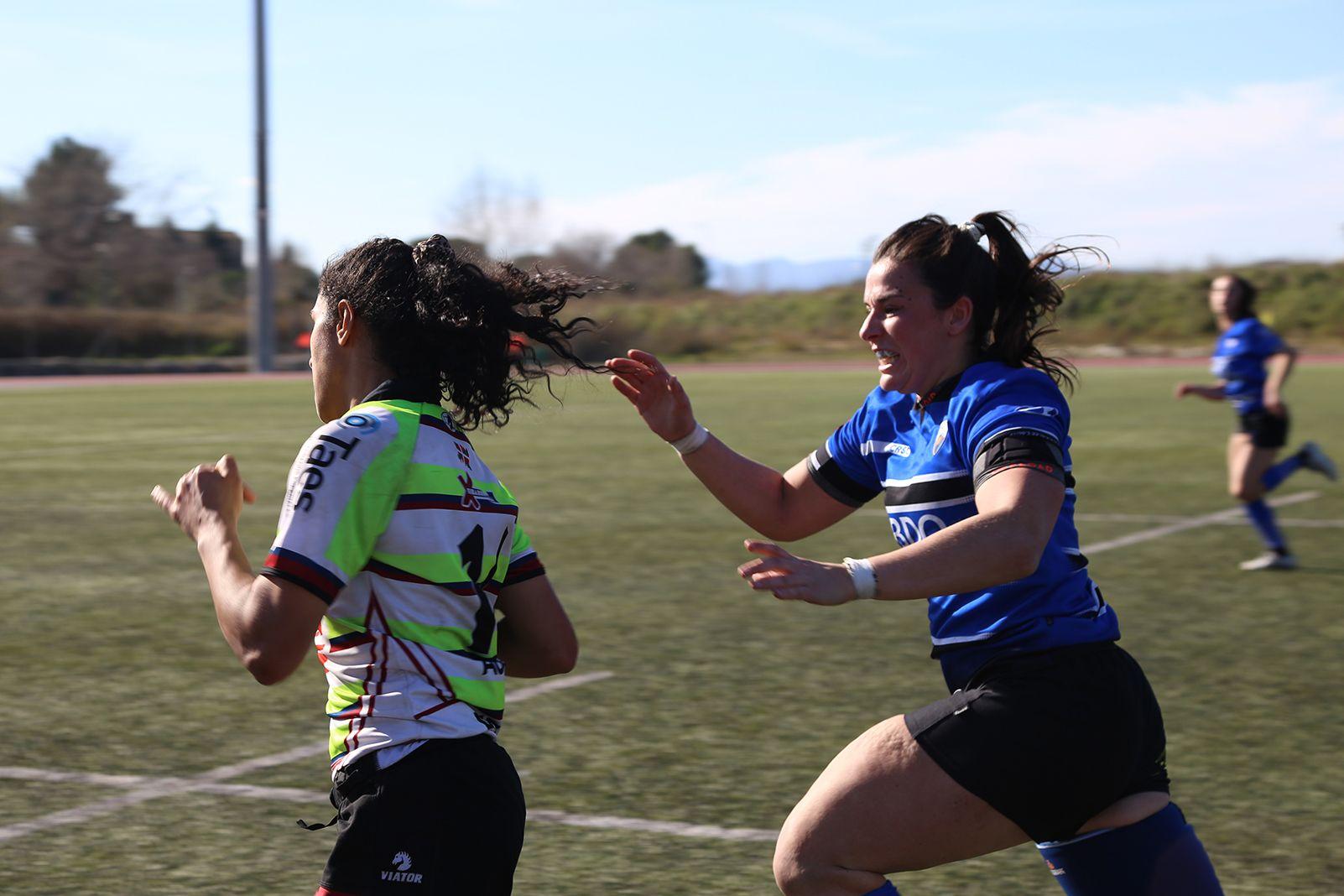 Partit de lliga CR Sant Cugat- AVIA Eibar Rugby Taldea. FOTO: Anna Bassa