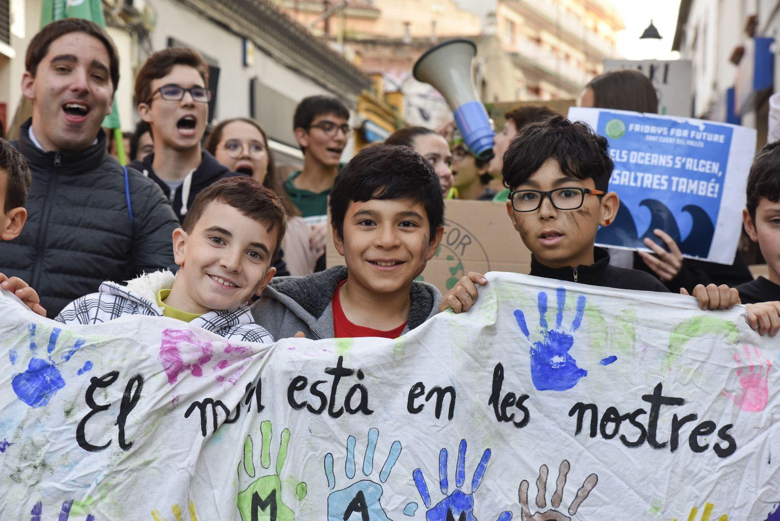 Manifestació de Fridays for Future. Foto: Bernat Millet.