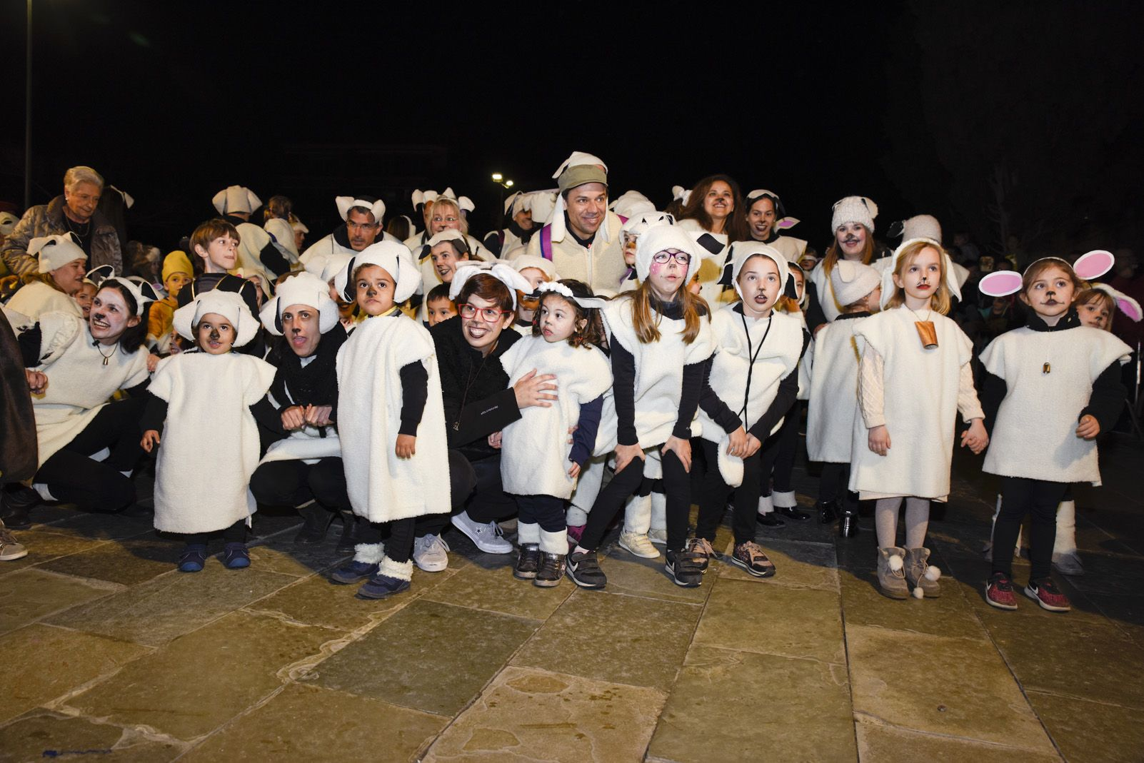 'El ramat del Gerbert', guanyadors de la categoria infantil del concurs de comparses. Foto: Bernat Millet.