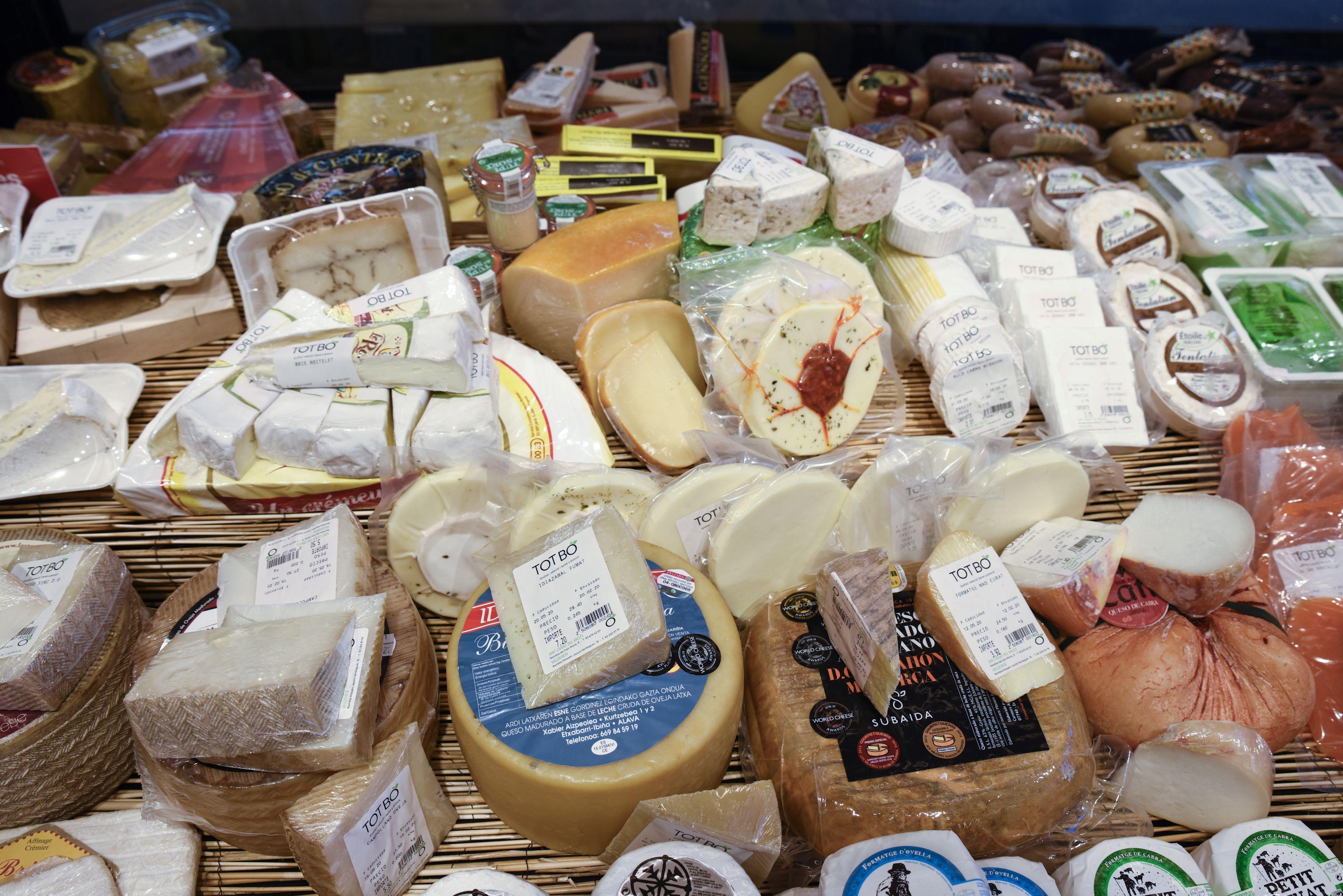 Selecció de formatges FOTO: arxiu