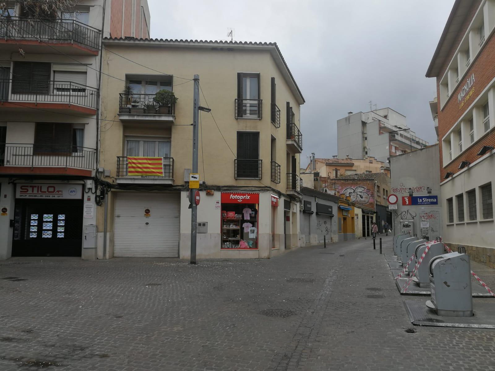 Carrers buits a Sant Cugat pel coronavirus. FOTO: Bernat Millet