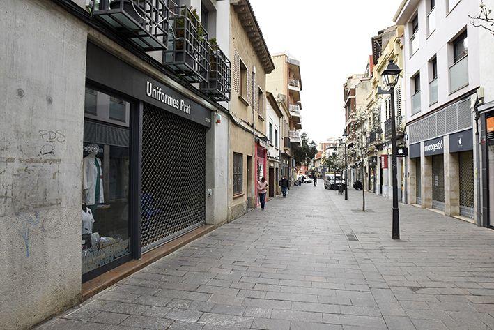 La situació del coronavirus a Sant Cugat. Foto: Bernat Millet.