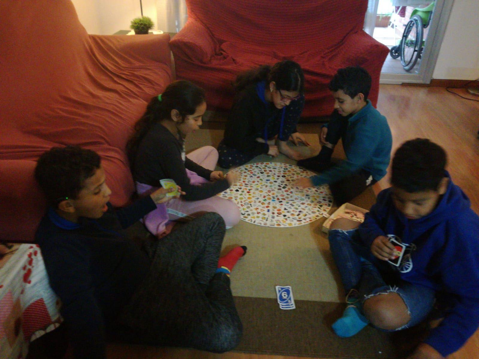 Els nens i nenes sahrauis del.pis de la Esperança.