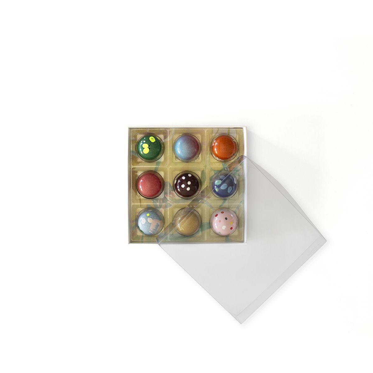 La caixa de 9 bombons love efímera FOTO: Cedida