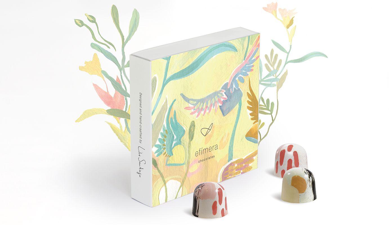 Detall de la caixa de bombons d'Efímera Chocolates FOTO: Cedida
