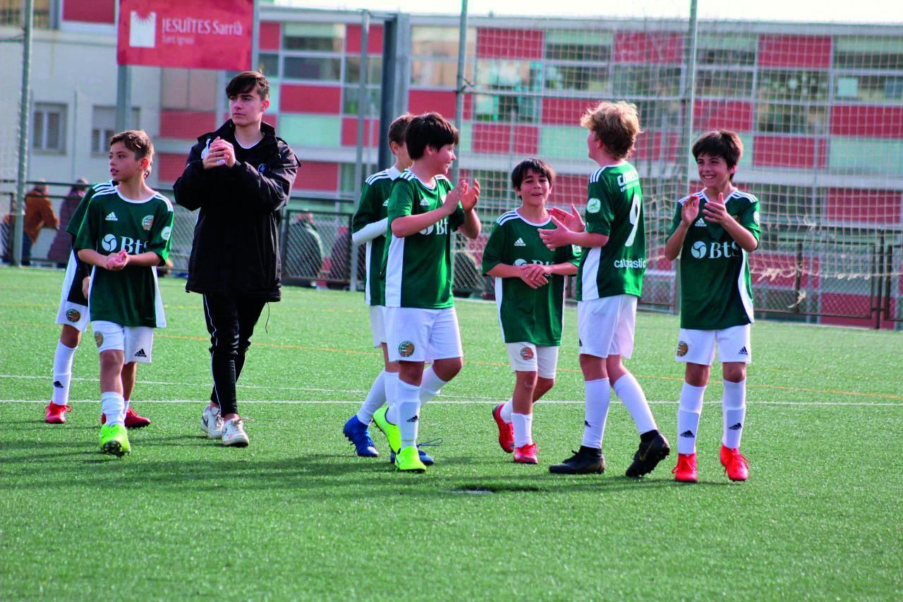 Els valldoreixencs van absorbir l'Escola del Futbol Vallvidrera.