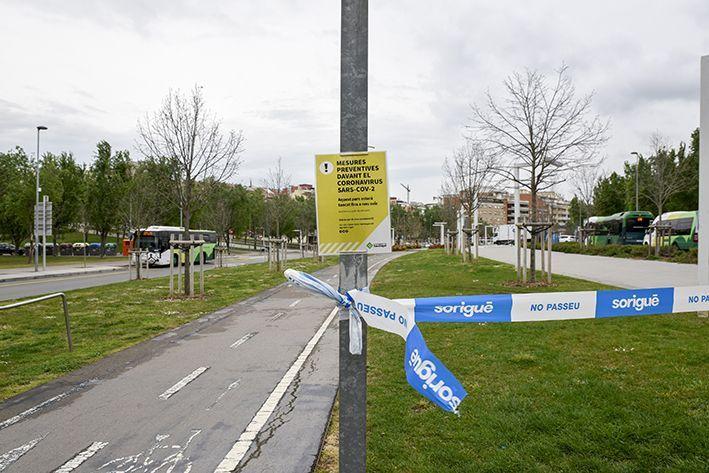 En la primera fase de la pandèmia i durant el confinament els carrers s'han vist buits. FOTO: Berant Millet