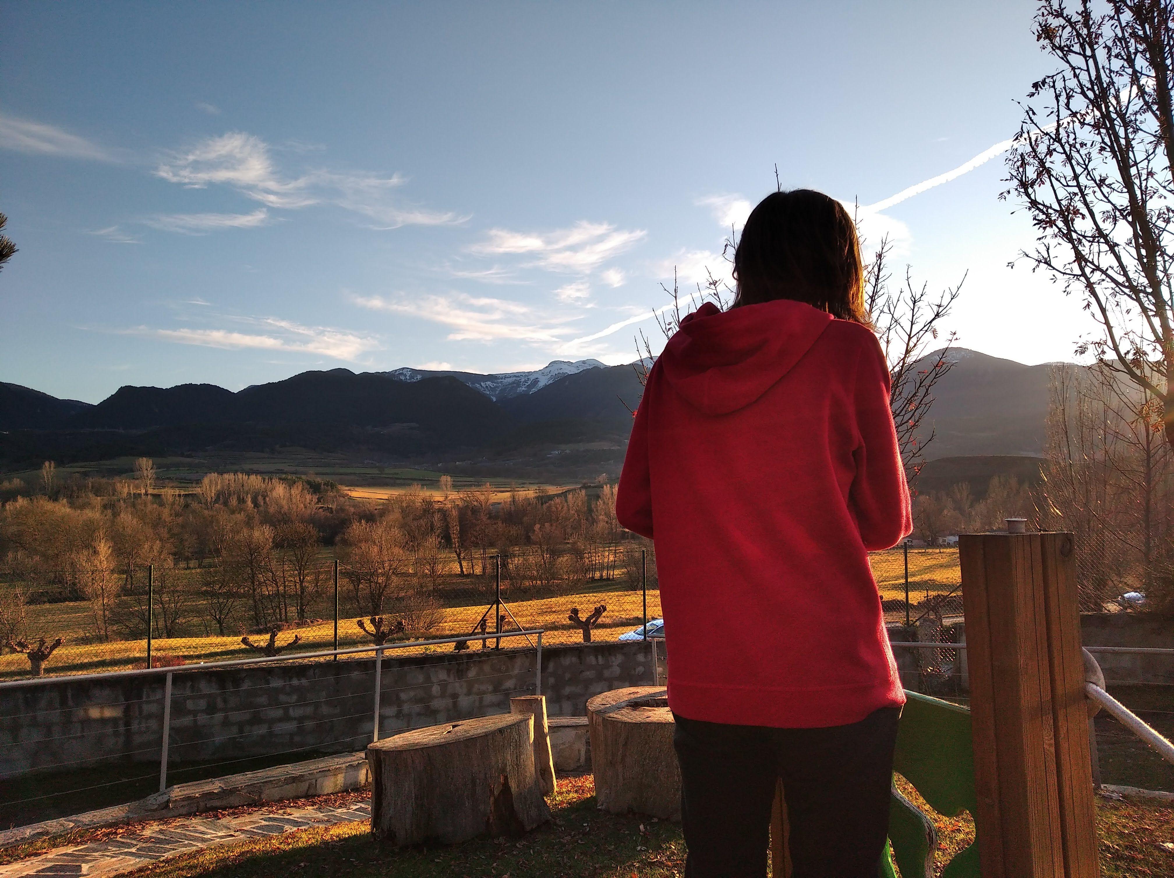 'mirant el cel' feta a Cerdanya _Bellver. FOTO: Susana Pomar Jimenez