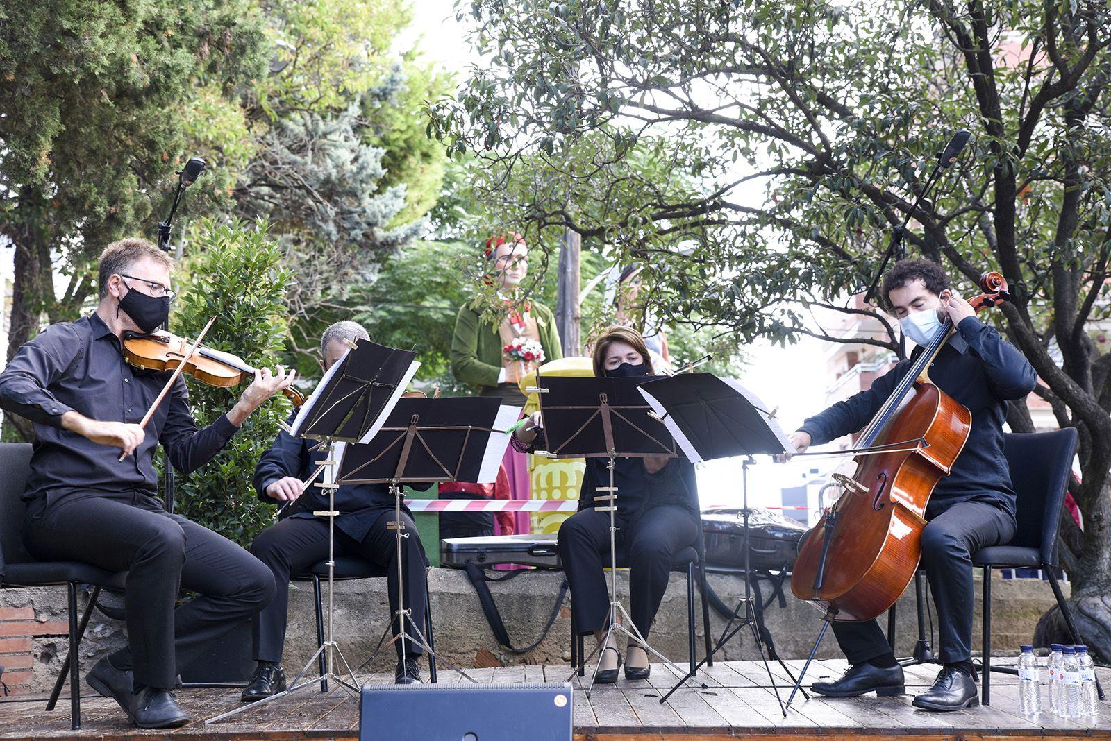 El Quartet Brossa actuant durant l'acte. Foto: Bernat Millet.