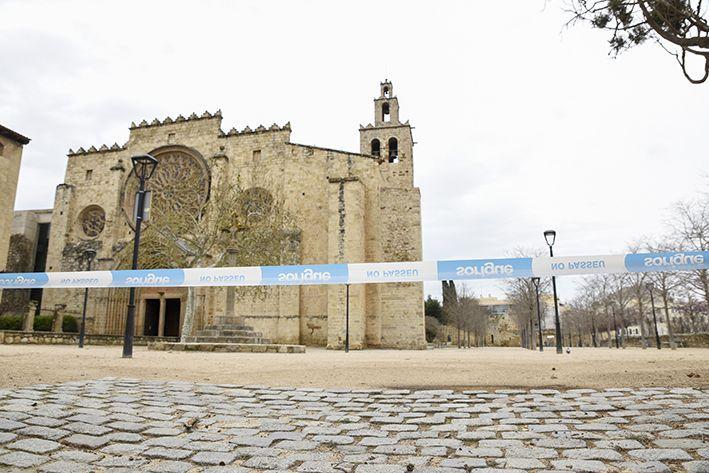 Molts espais de Sant Cugat van quedar tancats durant el primer confinament. FOTO: Bernat Millet