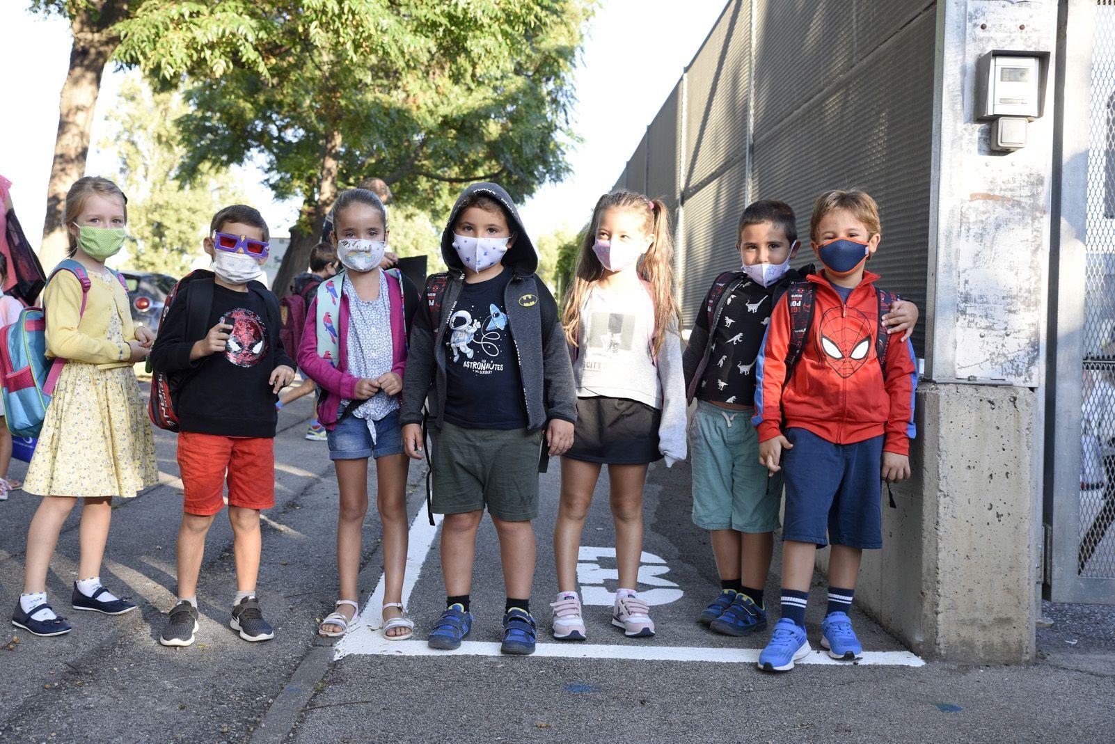 Després de sis mesos lluny de les aules, els infants van tornar a l'escola el 14 de setembre. FOTO: Bernat Millet