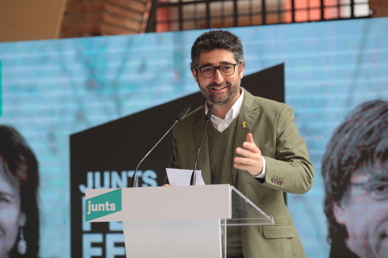 Jordi Puigneró a Sant Cugat en un acte de Junts per Catalunya. FOTO: Artur Ribera