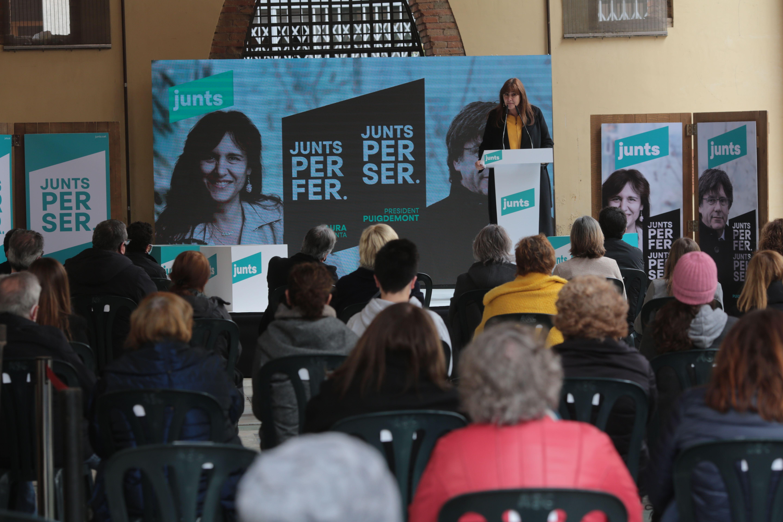 Laura Borràs en l'acte de Junts per Catalunya a Sant Cugat. FOTO: Artur Ribera