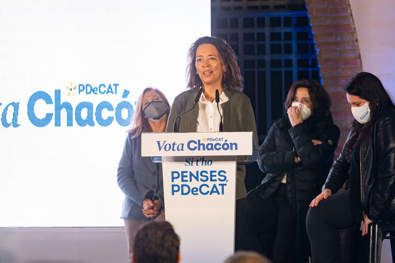 Mireia Canals en la campanya del PDeCAT a Sant Cugat. FOTO: Mariana Castel