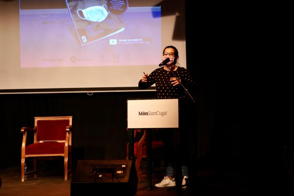 Esther Mdrona en la presentació del Món Sant Cugat. FOTO: Mariana Castel