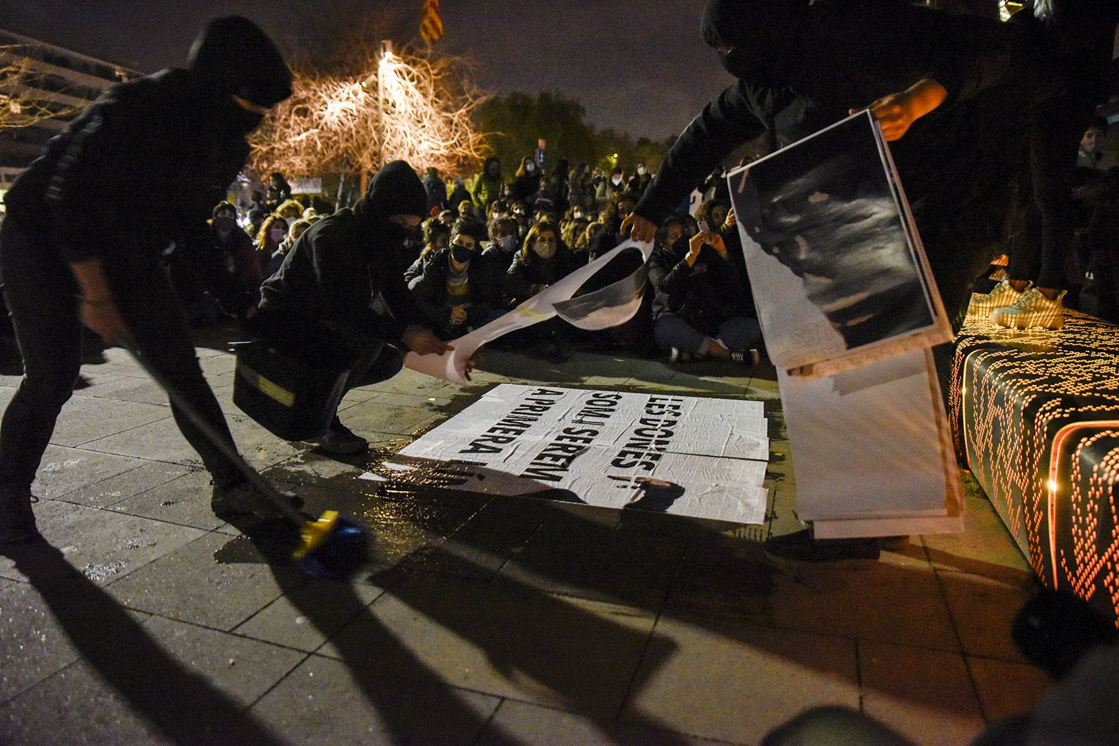 Manifestació 8M. Foto: Bernat Millet.