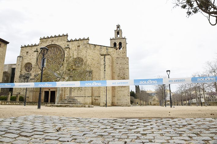 El Monestir, precintat FOTO: Bernat Millet