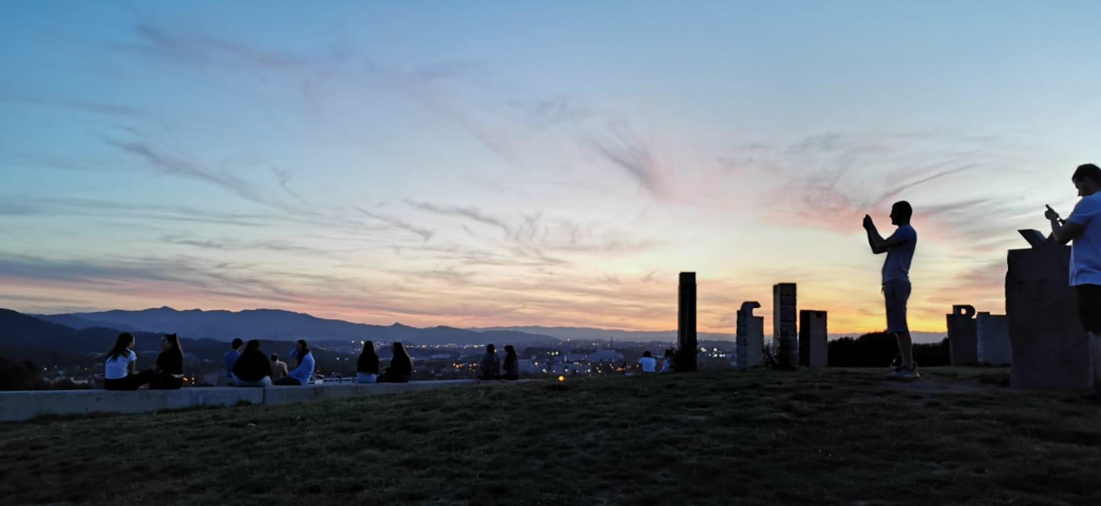 Fem una foto, que no recordàvem la posta de sol des de Can Mates...