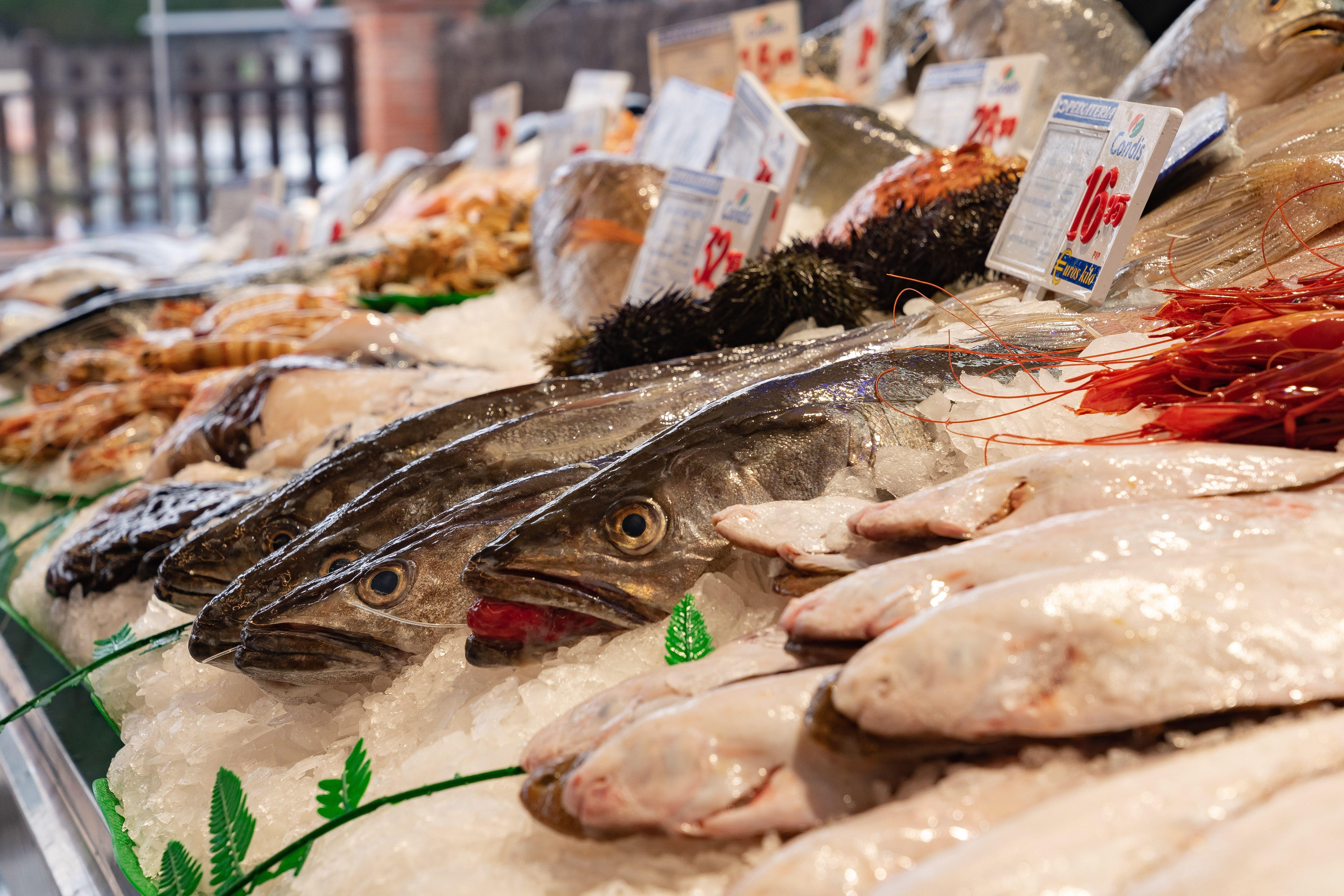 Parada de peix del Condis Valldoreix. FOTO: Mariana Castel