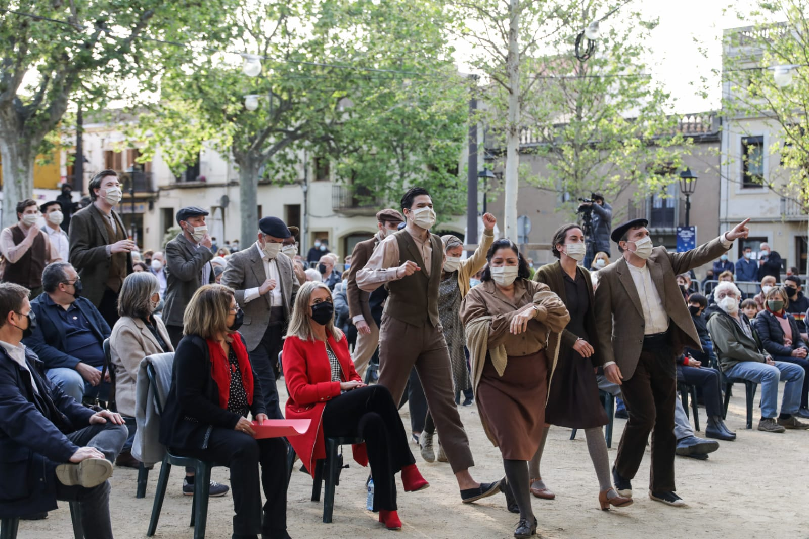 Acte d'homenatge a la II República i a la figura de l'alcalde Roc Codó. FOTO: Lali Puig