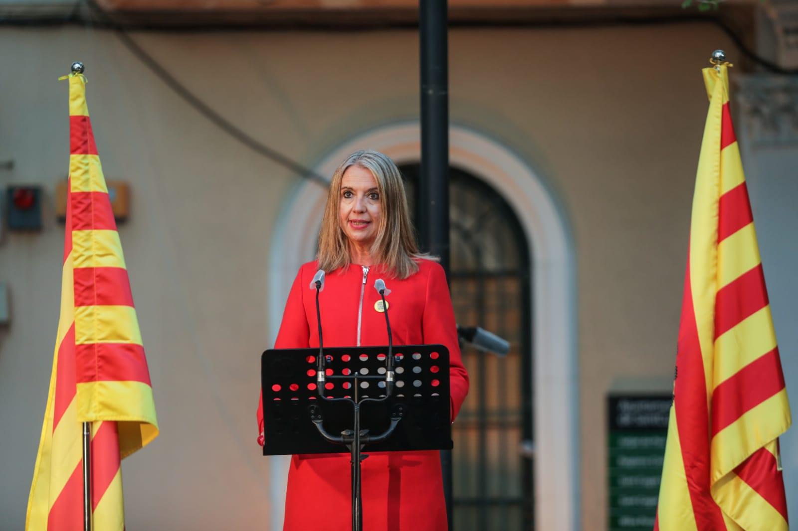 L'alcaldessa, Mireia Ingla, en l'acte d'homenatge a la II República i a la figura de l'alcalde Roc Codó. FOTO: Lali Puig
