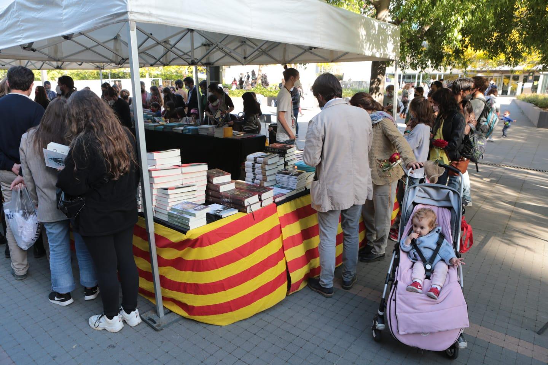 Sant Jordi es viu a Sant Cugat FOTO: Artur Ribera